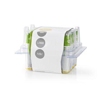 BAAKLR0320BX Alkaline-batterij aaa | 1.50 v | aaa / mn2400 / mv2400 / mx2400 / 24a / 1200 | 20 pcs | doos Verpakking foto