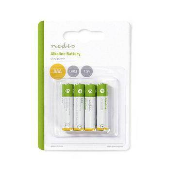 BAAKLR034BL Alkaline-batterij aaa | 1.50 v | aaa / mn2400 / mv2400 / mx2400 / 24a / 1200 | 4 pcs | blister