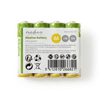 BAAKLR64SP Alkaline batterij aa | 1,5 v | 4 stuks | krimpverpakking