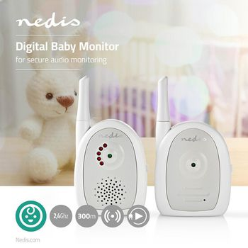 BAMO111AUWT Audio-babyfoon | fhss (frequency-hopping spread spectrum) | met terugspreekfunctie | bereik: 300 m | Product foto