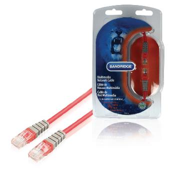 BCL7105 Cat5e utp netwerkkabel rj45 (8/8) male - rj45 (8/8) male 5.00 m rood
