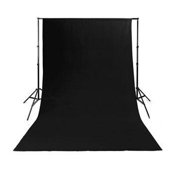 BDRP33BK Achtergronddoek voor fotostudio | 2,95 x 2,95 m | zwart