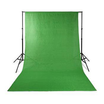 BDRP33GN Achtergronddoek voor fotostudio   2,95 x 2,95 m   groen