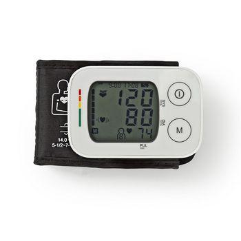 BLPR100WT Polsbloeddrukmeter | lcd | tijd/datum | 4x 30 geheugenopslag
