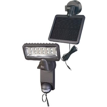 BN-9350 Solar wandlamp 12 led zwart