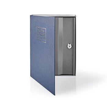 BOOKSEDL01BU Kluis   boekenkluis   sleutelslot   binnenshuis   groot   binnenvolume: 2.8 l   2 sleutels inbegrepe Product foto