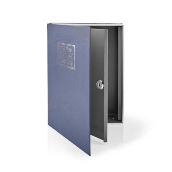BOOKSEDL01BU Kluis   boekenkluis   sleutelslot   binnenshuis   groot   binnenvolume: 2.8 l   2 sleutels inbegrepe