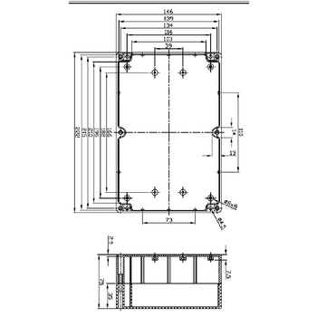 BOX G353 Electriciteit behuizing abs abs 222 x 146 x 75 mm In gebruik foto