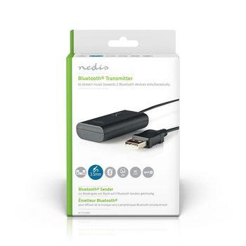 BTTR100BK Draadloze audiozender | bluetooth® | maximaal 2 hoofdtelefoons | zwart Verpakking foto