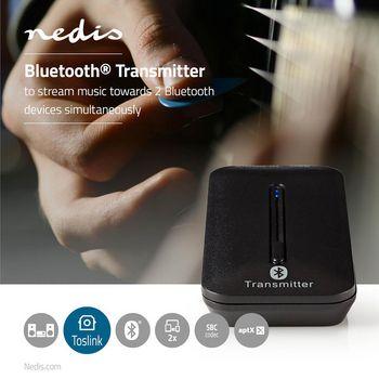 BTTR200BK Bluetooth®-zender | input: 1x toslink female | aptx ™ low latency / aptx™ / sbc | m Product foto