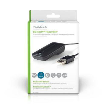 BTTR200BK Draadloze audiozender | bluetooth® | maximaal 2 hoofdtelefoons | zwart Verpakking foto