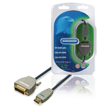 BVL1105 High speed hdmi kabel hdmi-connector - dvi-d 24+1-pins male 5.00 m blauw