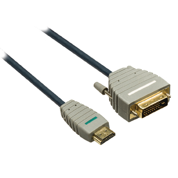 BVL1105 High speed hdmi kabel hdmi-connector - dvi-d 24+1-pins male 5.00 m blauw Product foto