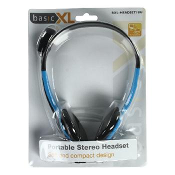 BXL-HEADSET1BU Headset on-ear 2x 3.5 mm ingebouwde microfoon 2.0 m blauw Verpakking foto
