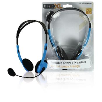 BXL-HEADSET1BU Headset on-ear 2x 3.5 mm ingebouwde microfoon 2.0 m blauw