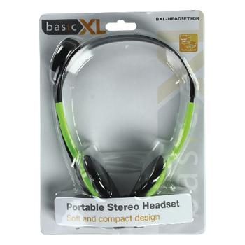 BXL-HEADSET1GR Headset on-ear 2x 3.5 mm ingebouwde microfoon 2.0 m groen Verpakking foto