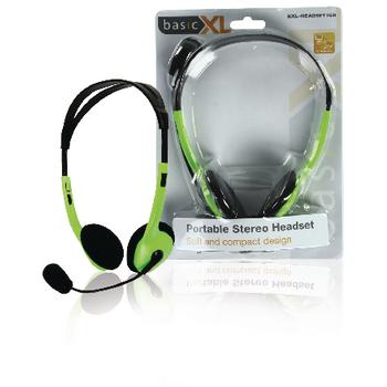 BXL-HEADSET1GR Headset on-ear 2x 3.5 mm ingebouwde microfoon 2.0 m groen