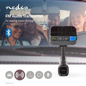 CATR102BK Fm-audiotransmitter voor auto | zwanenhals | handsfree bellen | 1.5 \