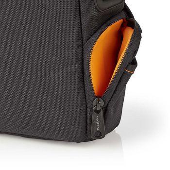 CBAG200BK Camera-schoudertas | 152 x 146 x 65 mm | 2 binnenvakken | zwart/oranje Product foto