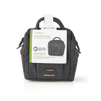 CBAG200BK Camera-schoudertas | 152 x 146 x 65 mm | 2 binnenvakken | zwart/oranje Verpakking foto