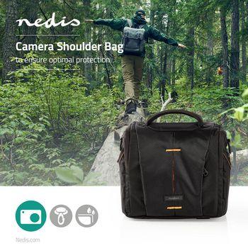 CBAG210BK Cameratas | schoudertas | waterafstotend | 190 mm | 120 mm | 220 mm | totaal aantal compartimenten:  Product foto