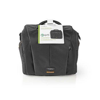 CBAG220BK Camera-schoudertas | 250 x 210 x 170 mm | 3 binnenvakken | zwart/oranje Verpakking foto