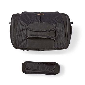 CBAG220BK Camera-schoudertas | 250 x 210 x 170 mm | 3 binnenvakken | zwart/oranje Inhoud verpakking foto