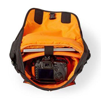 CBAG230BK Camera-schoudertas | 330 x 250 x 140 mm | 3 binnenvakken | zwart/oranje Product foto