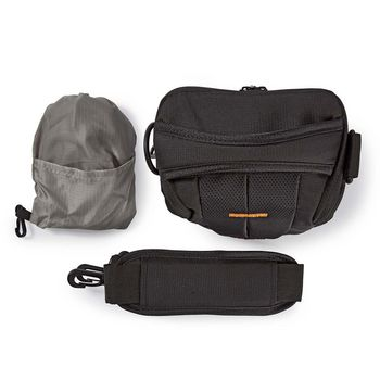 CBAG300BK Cameratas holster   160 - 185 x 145 x 140 mm   1 binnenvak   zwart/oranje Product foto