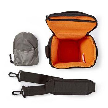 CBAG300BK Cameratas holster   160 - 185 x 145 x 140 mm   1 binnenvak   zwart/oranje Inhoud verpakking foto