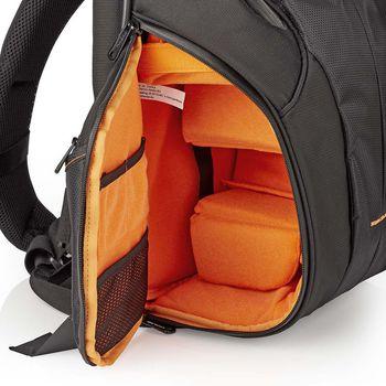CBAG400BK Cameratas rugtas | 290 x 410 x 150 mm | 10 binnenvakken | zwart/oranje Product foto