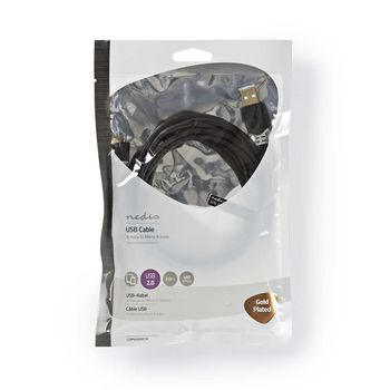 CCBP60500AT30 Usb-kabel | usb 2.0 | usb-a male | usb micro-b male | 480 mbps | verguld | 3.00 m | rond | pvc | ant Verpakking foto