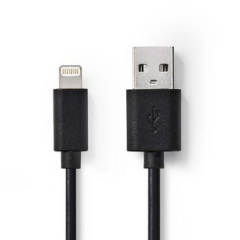 CCGP39300BK30 Sync and charge-kabel | apple lightning 8-pins male - usb-a male | 3,0 m | zwart