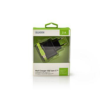 CH-027BL Lader 3-uitgangen 3 a 2x usb / usb-c™ zwart/groen Verpakking foto