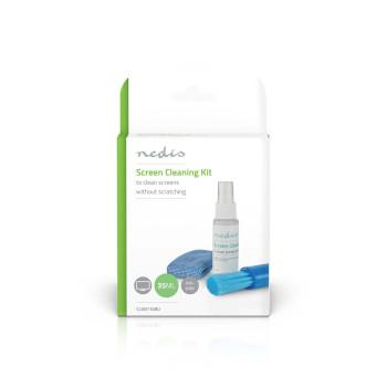 CLSN110BU Schermreiniger | spray | 35 ml | notebook / smartphone / tablet / tv-scherm | wisser inbegrepen  foto