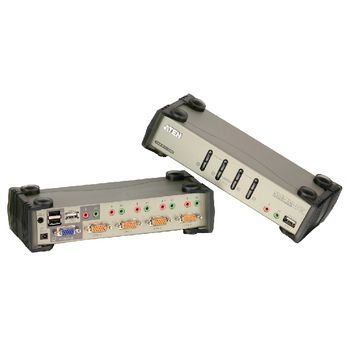 CS1734B-AT-G 4-poorts kvm switch zilver Product foto