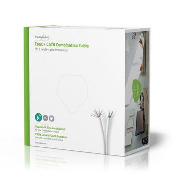 CSGG4500WT250 Coax- / cat6-combinatiekabel | 25,0 m Verpakking foto