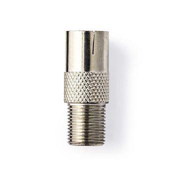 CSGP41955ME Satelliet- en antenne-adapter | f female - iec (coax) female | metaal