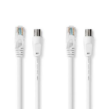 CSGP4500WT30 Coax- / cat6-combinatiekabel | met connectoren | 3,0 m