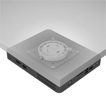 DF-48903 Viewgo desktopstandaard desk 903 thuis / kantoor zwart In gebruik foto
