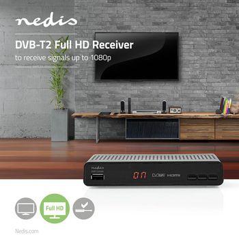 DVBT2265BK Dvb-t2 full hd-ontvanger Product foto