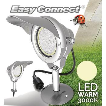 EC65370 Led tuinlamp met spies 10 w 3000 k