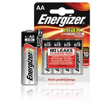 EN-E300112500 Alkaline batterij aa 1.5 v max 4-blister