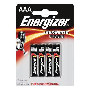 EN-E300132600 Alkaline batterij aaa 1.5 v power 4-blister
