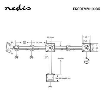ERGOTMM100BK Monitorbeugel voor bureaus   3 schermen   14-24 \
