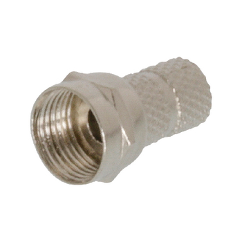 FC-012 F-connector 5.5 mm male metaal zilver