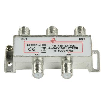 FC-4SPLT-KN Catv-splitter 8.0 db / 5-1000 mhz - 4 uitgangen