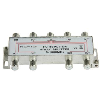 FC-8SPLT-KN Catv-splitter 11 db / 5-1000 mhz - 8 uitgangen