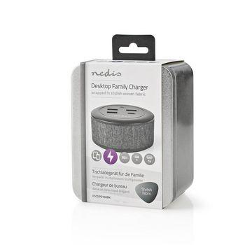 FSCSPD100BK Oplader | 1x 3,0 a / 3x 2,1 a | outputs: 4 | poorttype: 1x usb-c™ / 3x usb-a | geen kabel inbe Verpakking foto