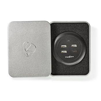 FSCSPD100GY Oplader | 1x 3,0 a / 3x 2,1 a | outputs: 4 | poorttype: 1x usb-c™ / 3x usb-a | geen kabel inbe Verpakking foto